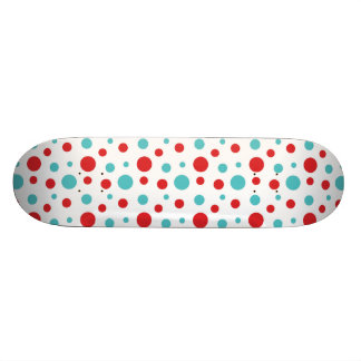 Polka Dots Red and Blue Skateboard Decks