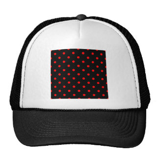 Polka Dots - Red on Black Hats