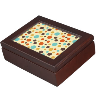 Polka Dots Retro Colors Blue Yellow Red Memory Boxes