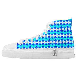 Polka Dots Retro Modern Cool Stylish Trendy Chic High Tops
