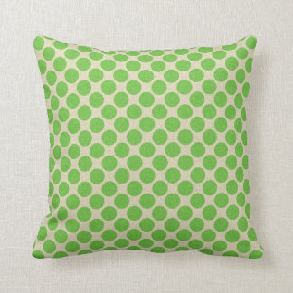 Polka Dots Revisable Green on any Colour 2 in 1 Throw Pillow