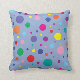 Polka Dots | Serenity Blue | Change BG color Cushion
