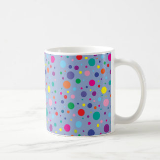 Polka Dots|Serenity Blue|Customised Background Clr Coffee Mug