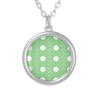 polka dots silver plated necklace