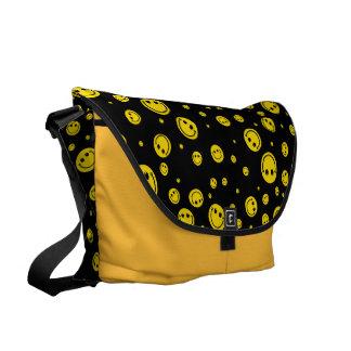 Polka Dots Smiley Messenger Bag
