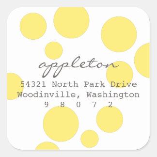 Polka Dots Square Address Label