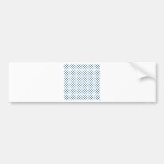 Polka Dots - Steel Blue on White Bumper Stickers