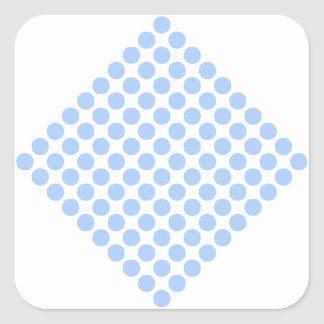 Polka Dots Square Sticker