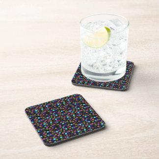 polka dots texture coasters
