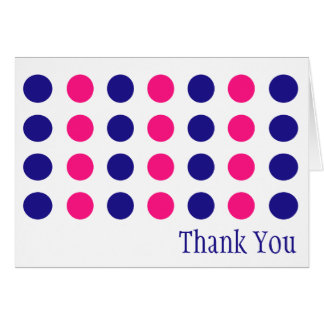 Polka Dots Thank You Cards (Blue / Pink)