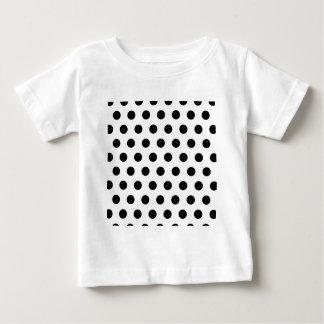 Polka Dots White & Black Baby T-Shirt