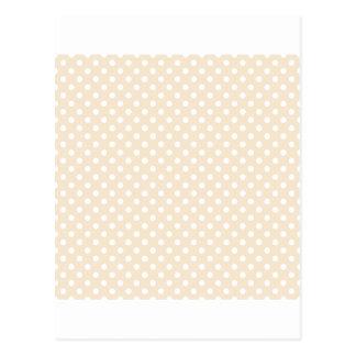 Polka Dots - White on Champagne Postcard