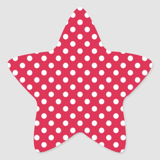 Polka Dots - White on Crimson Stickers