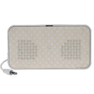 Polka Dots - White on Peach iPod Speaker