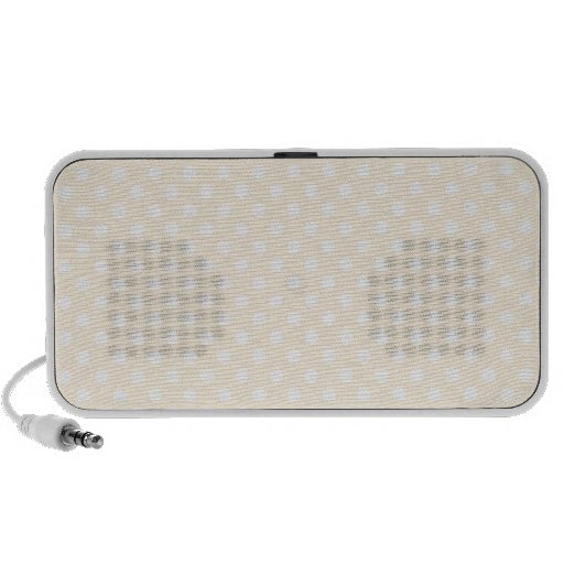 Polka Dots - White on Peach iPod Speaker
