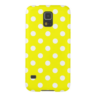 Polka Dots - White on Yellow Galaxy S5 Cover