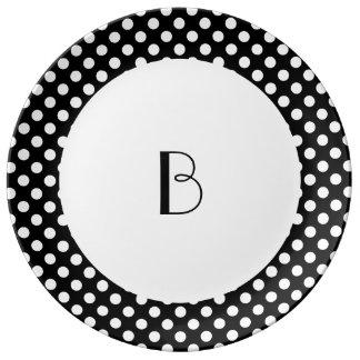 Polka Dots - White Porcelain Plates