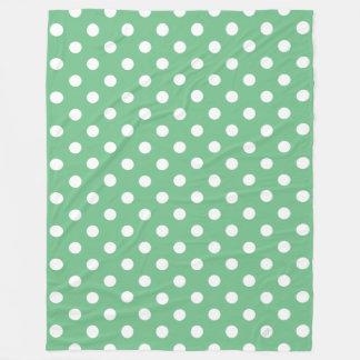 polka fleece blanket
