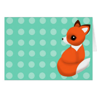 Polka Fox Notelet Card