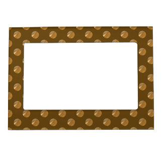 Polka golden dots magnetic frame