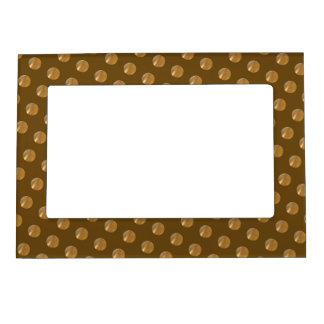 Polka golden dots magnetic picture frame