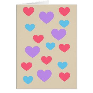 Polka Heart Emoji Card