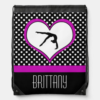Polka-Heart Gymnastics Backpack