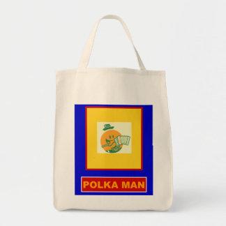 Polka Man Grocery Tote Bag