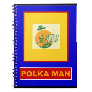 Polka Man Note Book