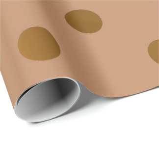 Polka Small Dots Honey Gold VIP Beige Brown Ivory Wrapping Paper