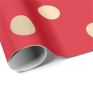 Polka Small Dots Vivid Red Pastel Foxier Gold Ivor