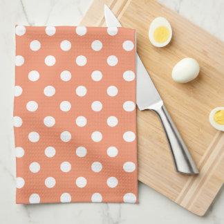 polka tea towel