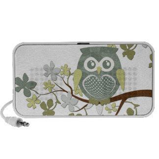 Polka Tree Owl Doodle Mini Speakers