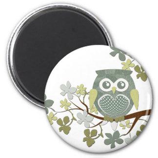 Polka Tree Owl Magnet