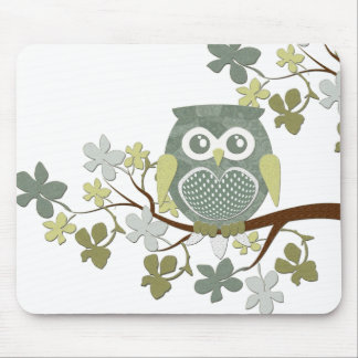 Polka Tree Owl Mousepad