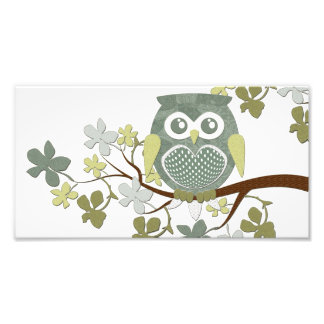 Polka Tree Owl Photo Enlargement