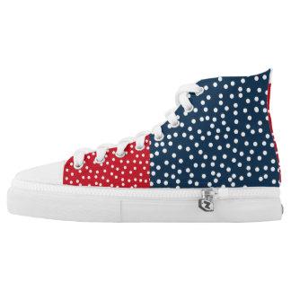 PolkaDot America! High Tops
