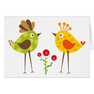 polkadot bird 2 card