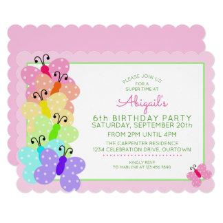 Polkadot Butterfly Birthday Card