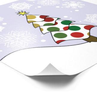 Polkadot Christmas Tree Art Photo Print