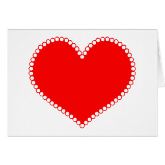 Polkadot Edge Red Heart Card