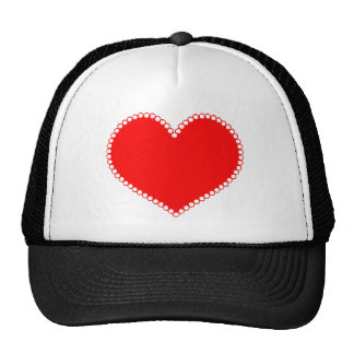 Polkadot Edge Red Heart Trucker Hats