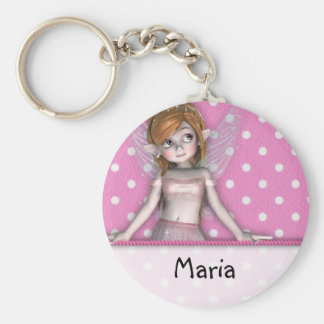 Polkadot Fairy Keyschain Key Ring