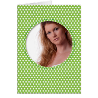 Polkadot Frame green Card