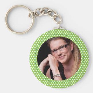 Polkadot Frame green Key Chain