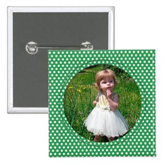 Polkadot Frame in green Pin