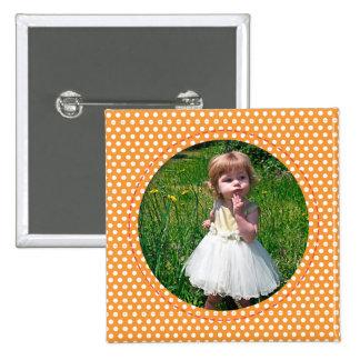 Polkadot Frame in orange Button