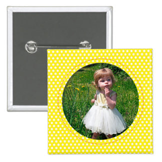 Polkadot Frame in yellow Pin