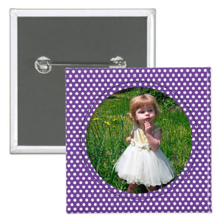 Polkadot Frame purple Pin