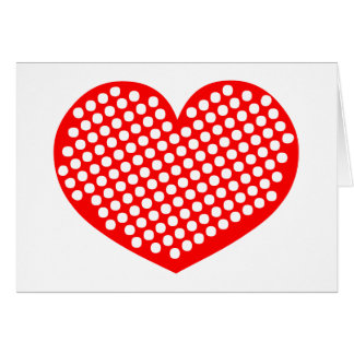 Polkadot Heart Card